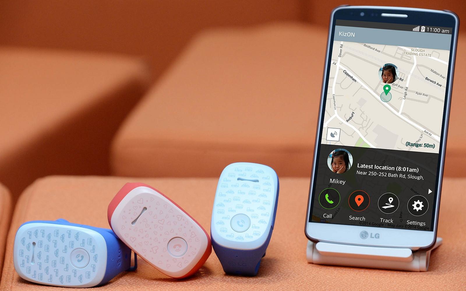 браслеты KizON и смартфон