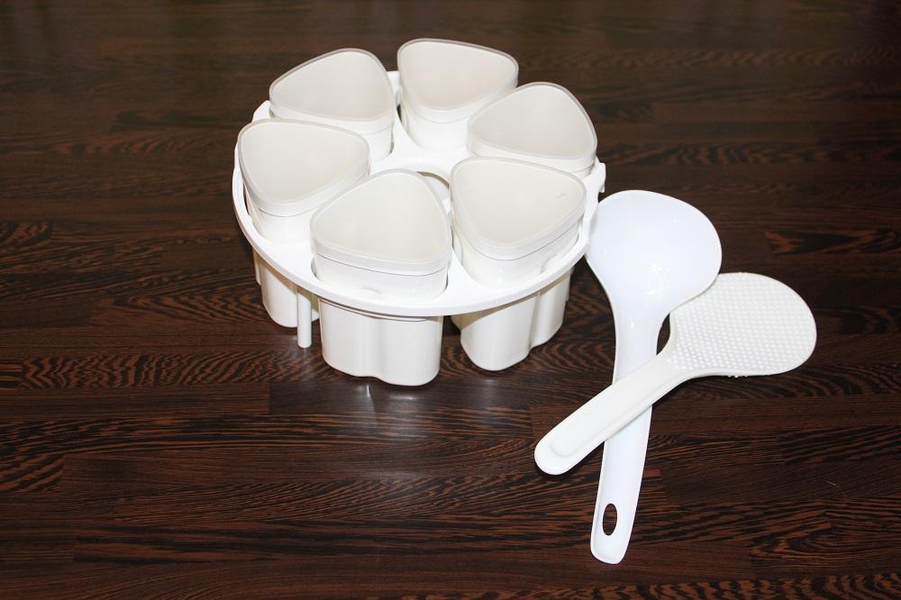 стаканчики для йогурта, лопатка и ложка для мультиварки Mirta MC-2201