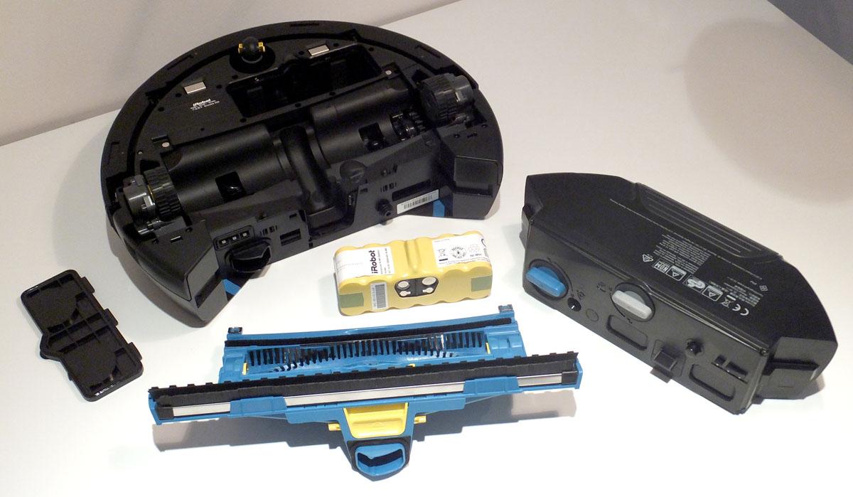 моющий робот-пылесос IROBOT Scooba 450, его детали, щетка, резервуар для воды
