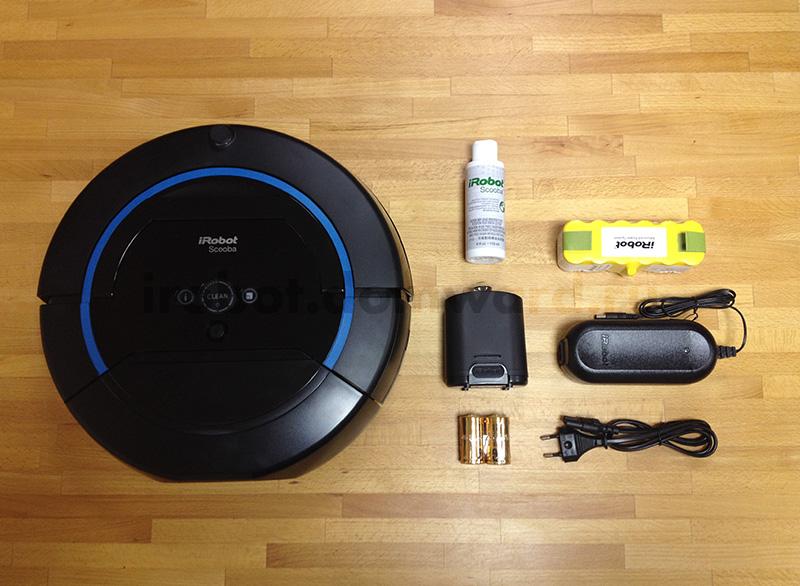 комплектация моющий робота-пылесоса IROBOT Scooba 450